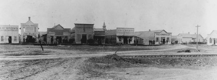 Downtown Mesquite Texas, circa late 1800's.