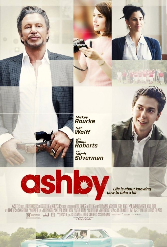 Ashby is a 2015 American comedy-drama film. The film stars Mickey Rourke, Nat Wolff, Emma Roberts, and Sarah Silverman. The film had its world premiere at Tribeca Film Festival on April 19, 2015. The film was released in the United States in a limited release and on video on demand on September 25, 2015, by Paramount Pictures and The Film Arcade. Plot: High-school student Ed Wallis enters into a friendship with his neighbor, Ashby, a retired CIA assassin who only has a few months left to…