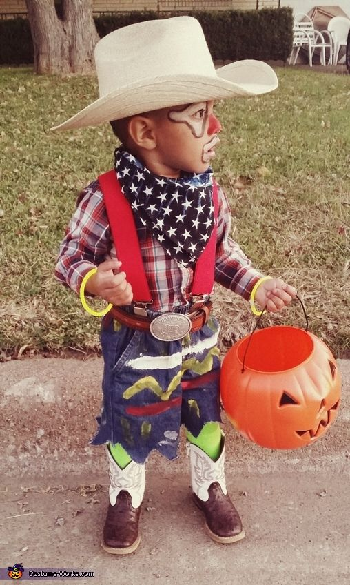 Baby Rodeo Clown - Halloween Costume Contest via @costume_works