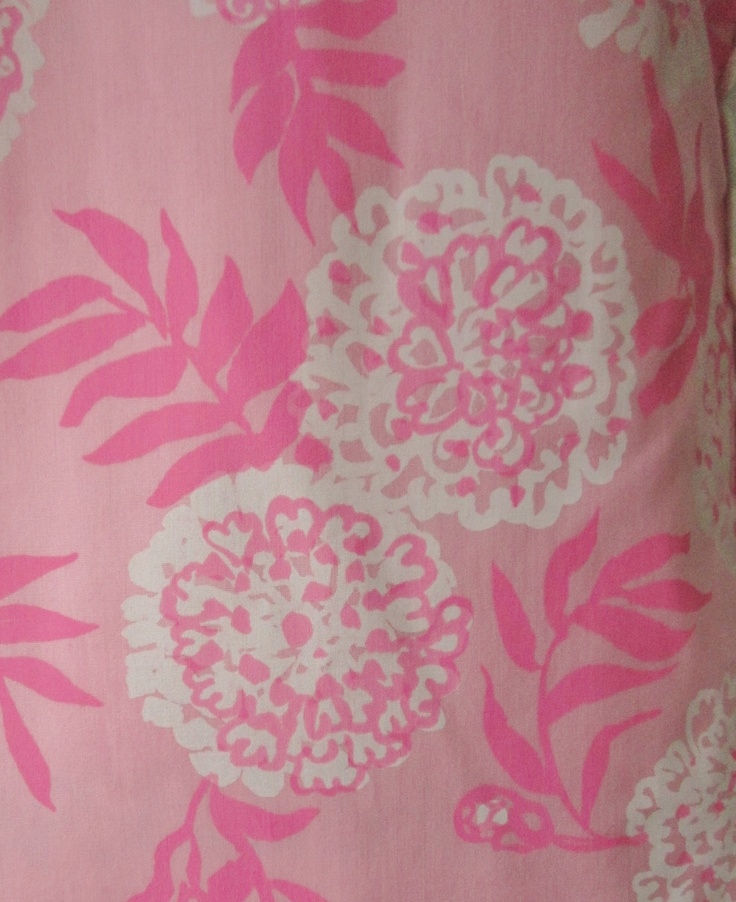 60's Lilly Pulitzer Shift Dress // Vintage 1960's Lilly Pulitzer Pink Floral Print  Garden Party Shift Dress S. $65.00, via Etsy.
