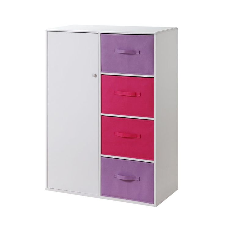 4D Concepts Girls 4 Drawer Armoire - White - 12440