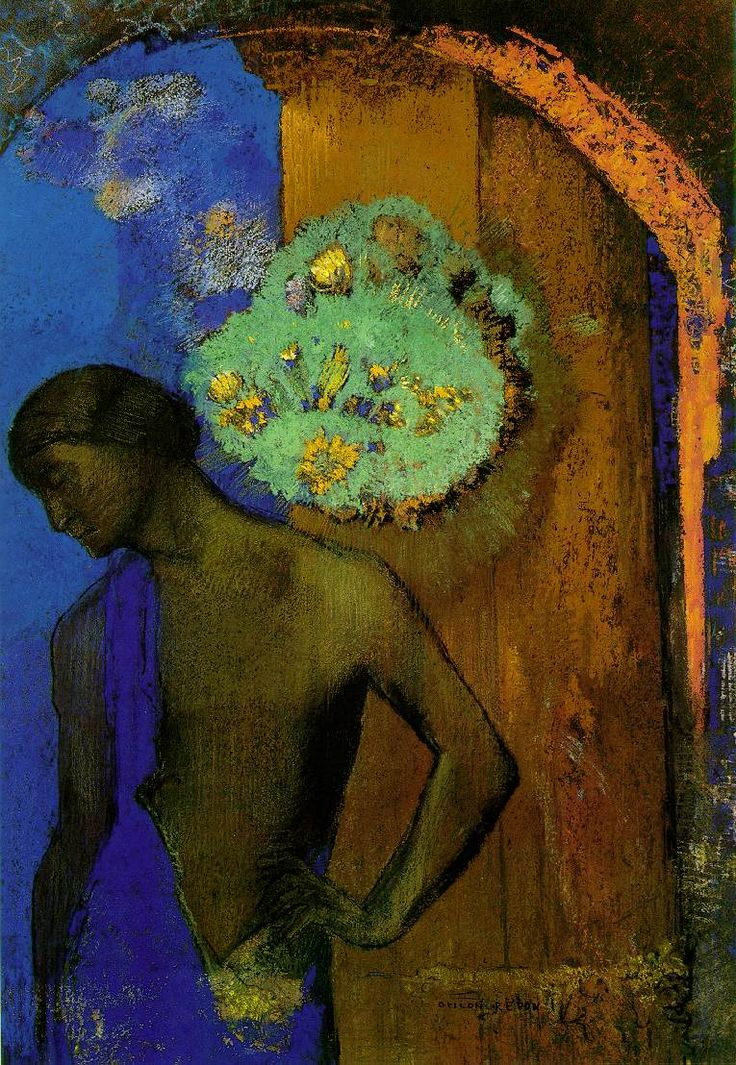 Odilon Redon  Saint John   1892 (200 Kb); Pastel over charcoal, 42.5 x 29 cm; Private collection
