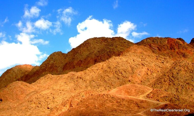 Hiking in startling landscapes Timna Valley, Israel