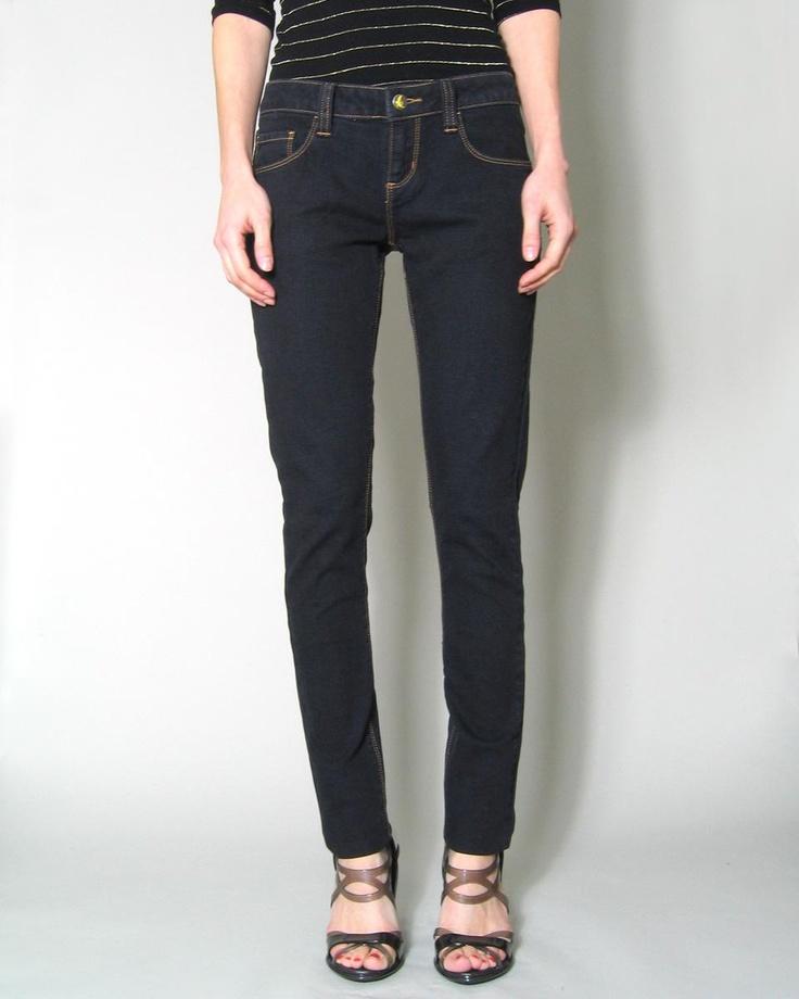 Organic ink skinny jeans.