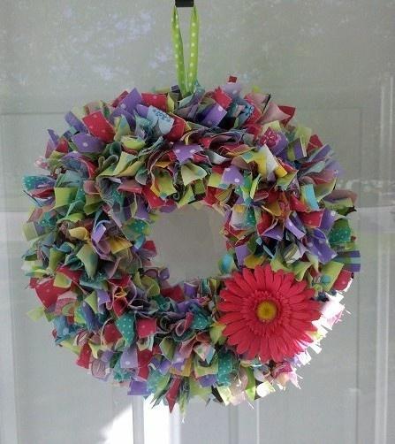 Spring rag wreath Spring rag wreath