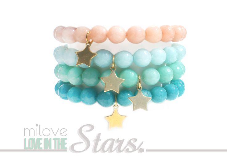 www.facebook.com/milovedesign  bracelets made with gold and jades <3