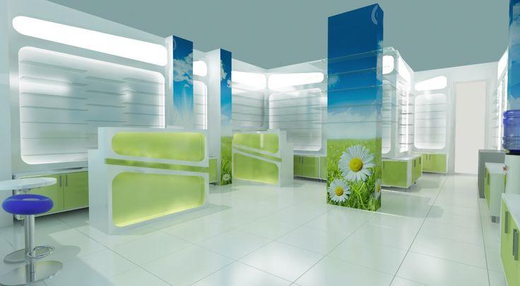 Countere individuale, amplasate pe zone de servire.  http://www.sertarefarmacii.ro/proiecte/