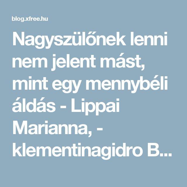 Nagyszülőnek lenni nem jelent mást, mint egy mennybéli áldás - Lippai Marianna,  - klementinagidro Blogja - 2016-02-12 07:56