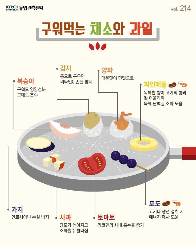 구워먹는 채소와 과일에 관한 인포그래픽