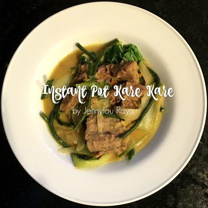 Making Kare Kare in the Instant Pot