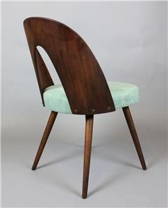 From 4 original vintage mid century modern bent plywood tatra chair