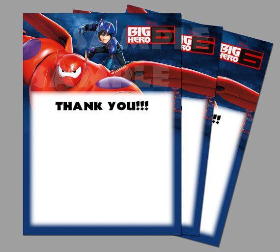 9 best disney's big hero 6 birthday invitations images on, Birthday invitations