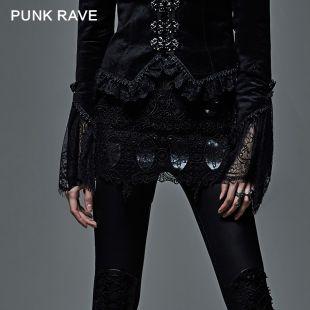 Gothic Dark Transparency Mini Skirt
