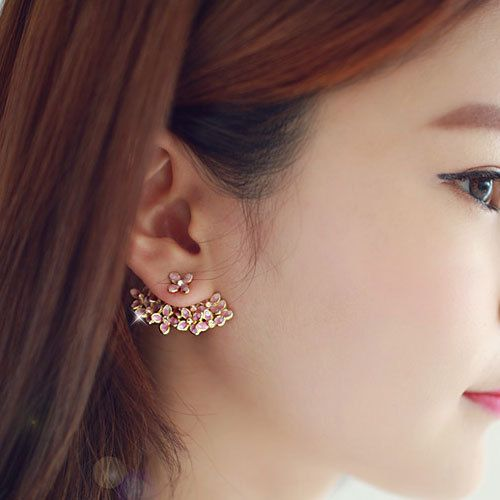 Dazzling Cherry Blossom Twoway Earrings by MAPSYstore on Etsy, $19.50