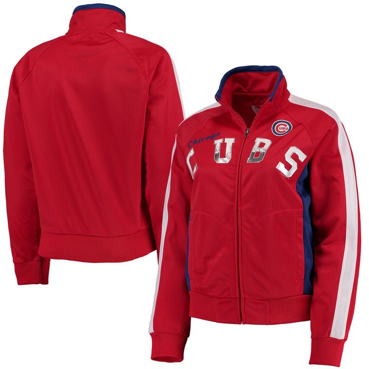 Chicago Cubs G-III 4Her by Carl Banks Women's Breaking Ball Full-Zip Track Jacket - Red