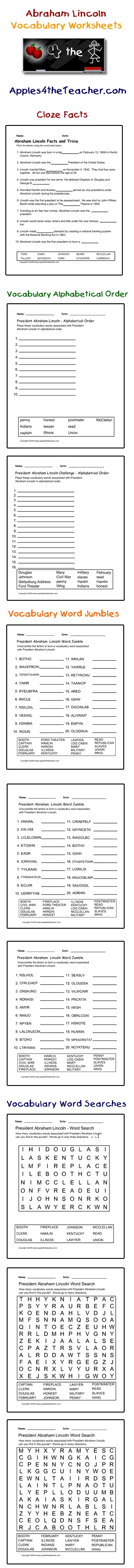 Uncategorized If I Were President Worksheet 39 best presidents day images on pinterest president abraham lincoln interactive vocabulary words cloze facts activity page alphabetical order worksheets