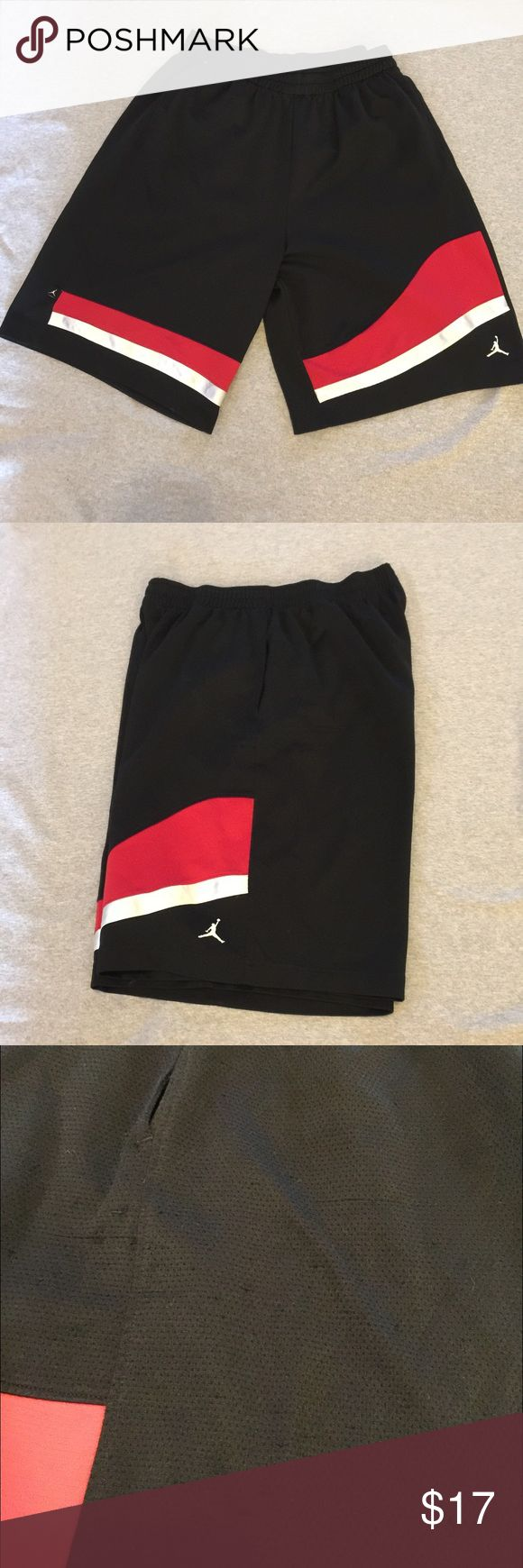 Jordan basketball shorts Men's size extra large. Several runs and snags as shown in the images. Besides that, good used condition. Jordan Shorts Athletic