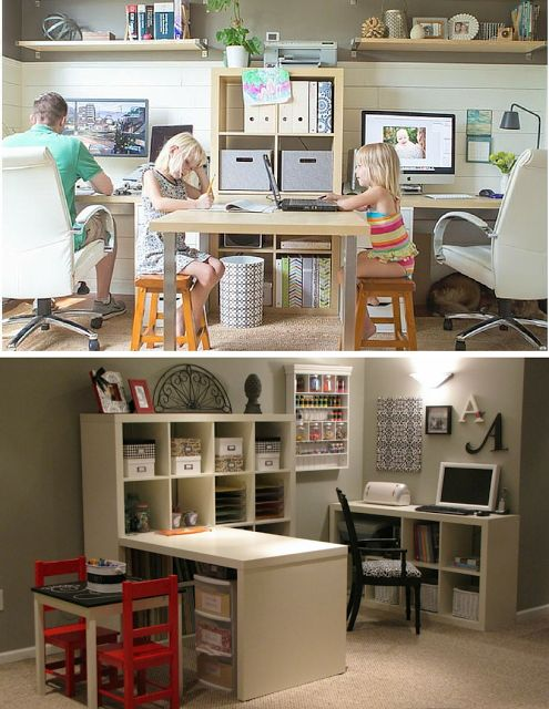 3 Easy ways for an office and playroom combo via Collecting Moments Blog