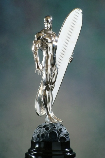 Silver Surfer chrome statue / Bowen Designs                                                                                                                                                                                 More