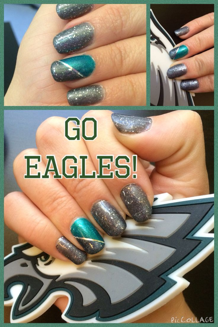cool Philadelphia Eagles Nail Design #eagles #nail #art #football...
