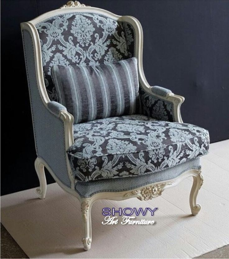 """Kursi tamu putih wing chair """