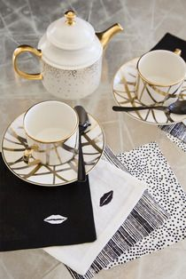 KISS COCKTAIL NAPKINS - Kelly Wearstler #diy