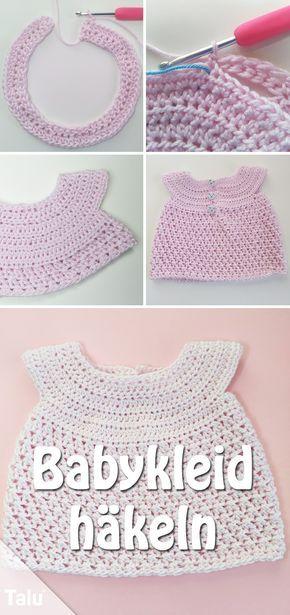 Babykleid Häkeln Anleitung Für Ein Babykleidchen Dolls Crochet