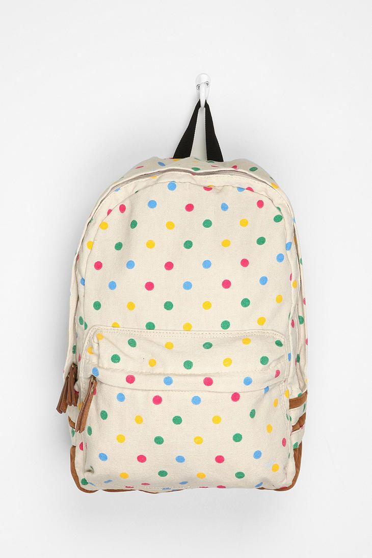 Carrot Polka Dot Backpack  #UrbanOutfitters