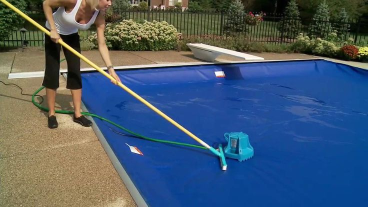 Using a pool cover pump is an easy way to remove standing water and debris from your covered pool during months when it's not in use.