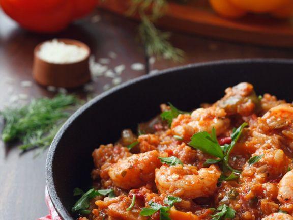 Jambalaya ist ein Rezept mit frischen Zutaten aus der Kategorie Garnelen. Probieren Sie dieses und weitere Rezepte von EAT SMARTER!