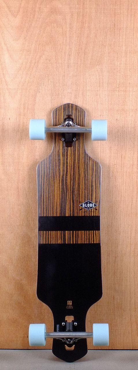 "Globe Prebuilt 35"" Geminon Black Longboard Complete Bottom"