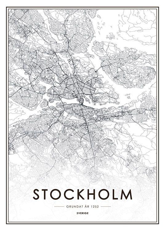 Plakat von Stockholm.