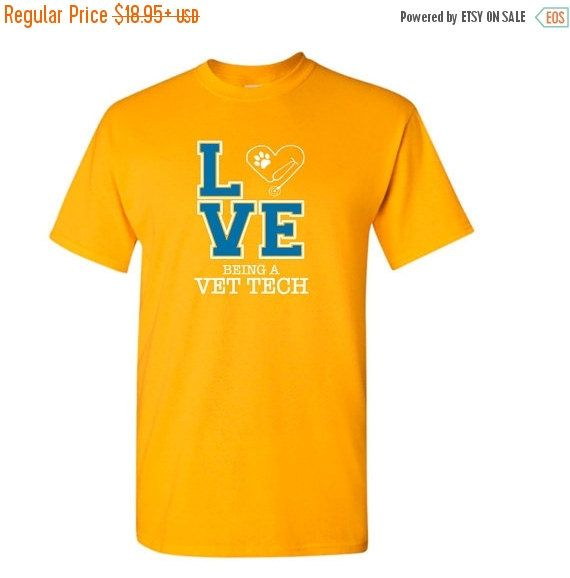 #NationalVetTechWeek ON SALE ADULT Size t-shirt - Love Being A Vet Tech t-shirt - Veterinarian Assistant shirt by JessLynnCreation on Etsy