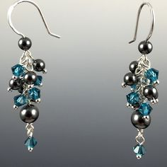 - Adorned with Swarovski crystals and/or Swarovski crystal pearls - Hand formed .925 sterling silver ear wires with rubber earring backers - All metal components are 100% .925 Sterling Silver - Approx