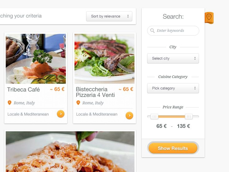 #Minimalistic #Webbdesign for Cibando restaurant search