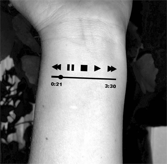 791132d35 Music temporary tattoo music player tattoos fake tattoos | Products | Music  tattoos, Tattoos, Small wrist tattoos
