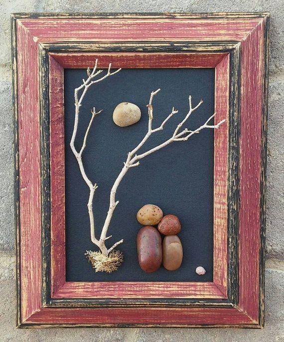 Pebble Art, Rock Art, Pebble Art Couple, Rock Art Couple, wedding gift, engagement, anniversary, New couple, 8x10 frame (FREE SHIPPING)