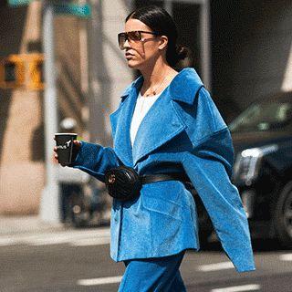 最旬セットアップはジャケットワイドパンツのマニッシュスタイル