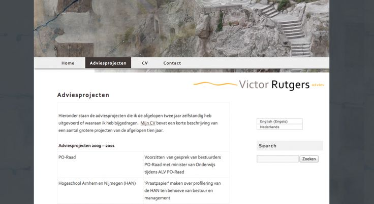 website Victor Rutgers Advies