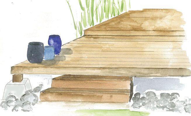 Parce Que L On N Est Pas Forcement Un Professionnel Du Paysage Et Que L On Ne Construit Pas Une Terrasse Tous Terrasse Jardin Terrasse Bois Terrasse
