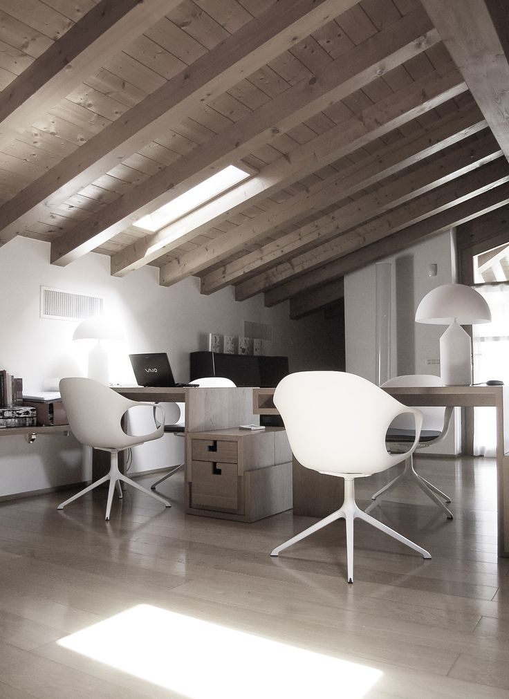 Home office with elephant chairs on trestle plus cushion