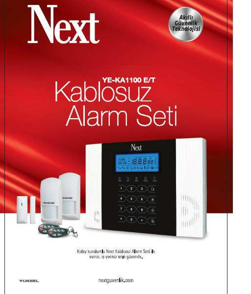 Next YE-1100 Kablosuz Alarm Sistemi - 487.29 TL + KDV