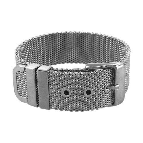 Belt-Like Opening Technique Mesh Bracelet | Inox Jewelry - Bijouterie Altxorra
