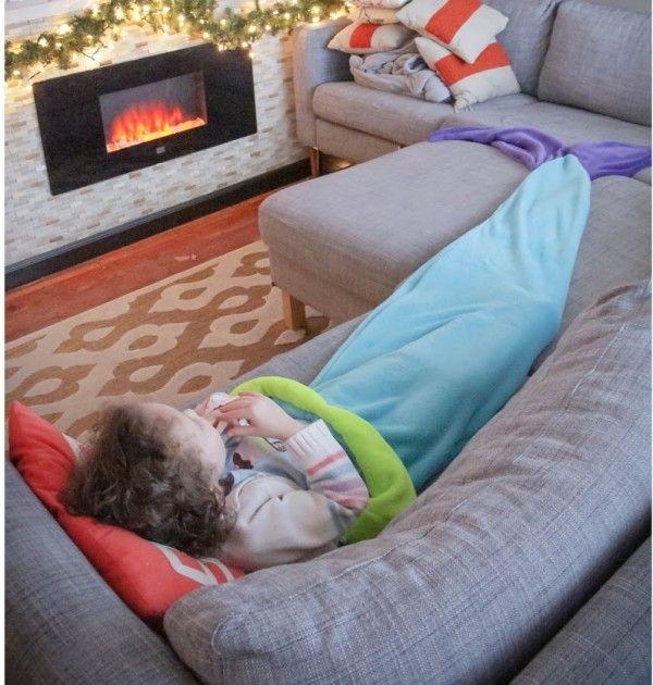 Réalisez unequeue de sirène toute douce pour de belle soirée au coin du feu. Pour regarder la télévision, faire une sieste ou pour écouter une histoire
