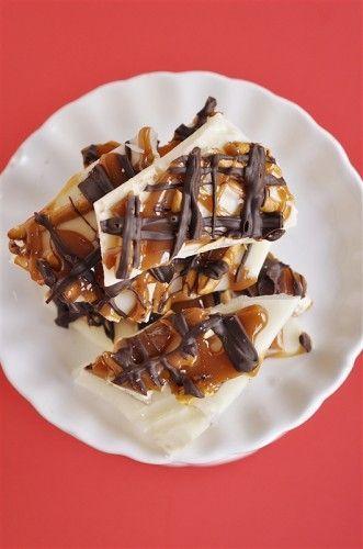Chocolate caramel pretzel bark from Your Home Based Mom on iheartnaptime.net