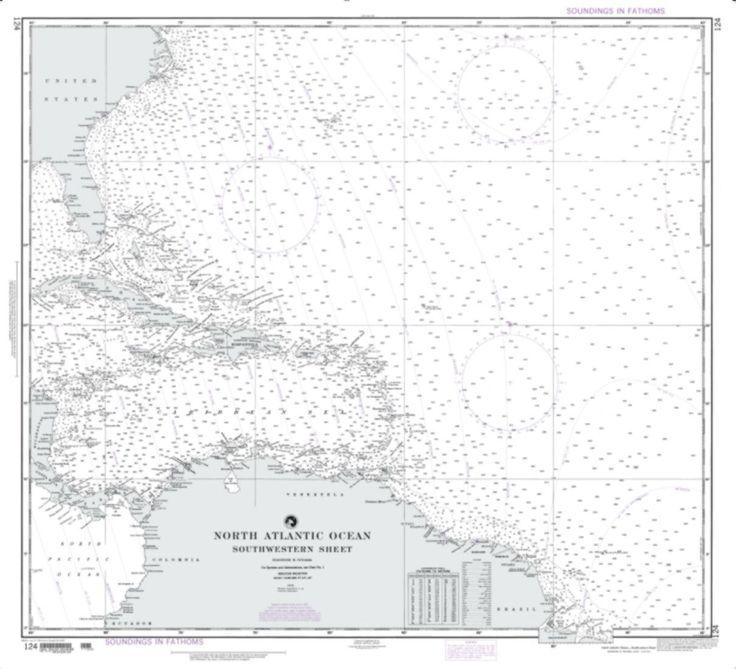 North Atlantic Ocean - Southwestern Sheet Nautical Chart (124) by National Geospatial-Intelligence Agency