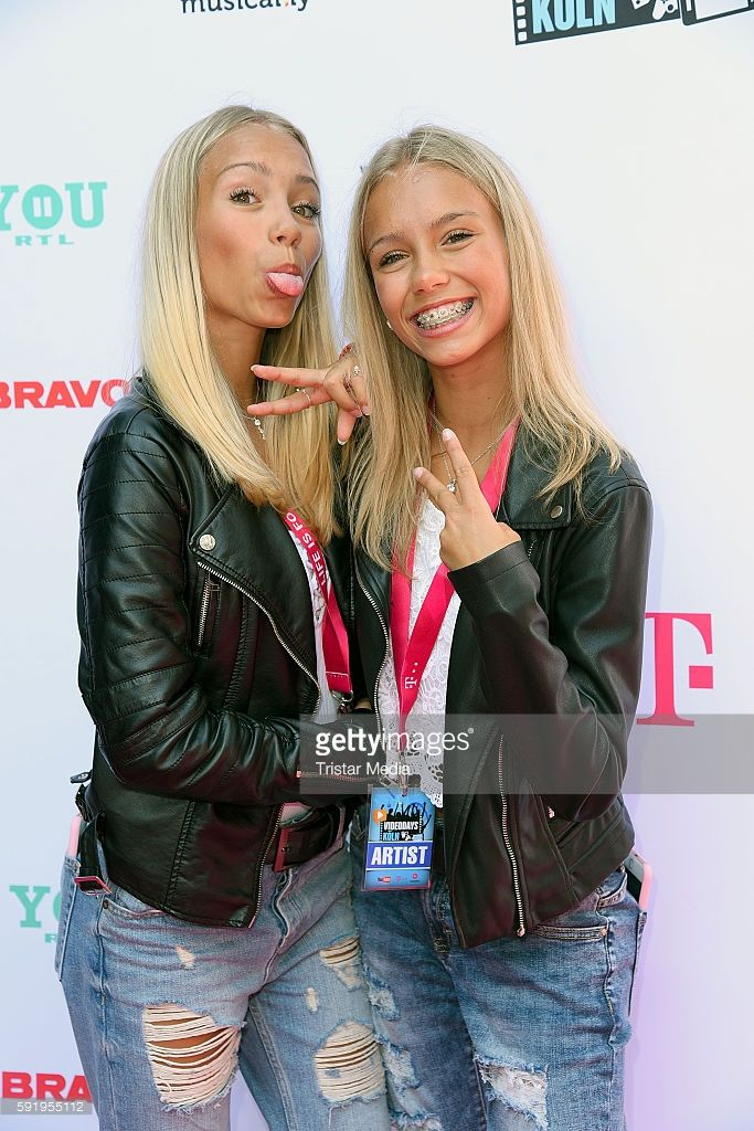 Lisa and Lena attend the VideoDays 2016 at Lanxess Arena on August 19, 2016 in…
