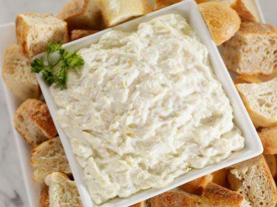 Dip de Queso y Especies | Un rico dip hecho con queso mozzarella, queso parmesano y albahaca.