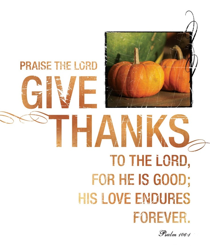 Give thanks with