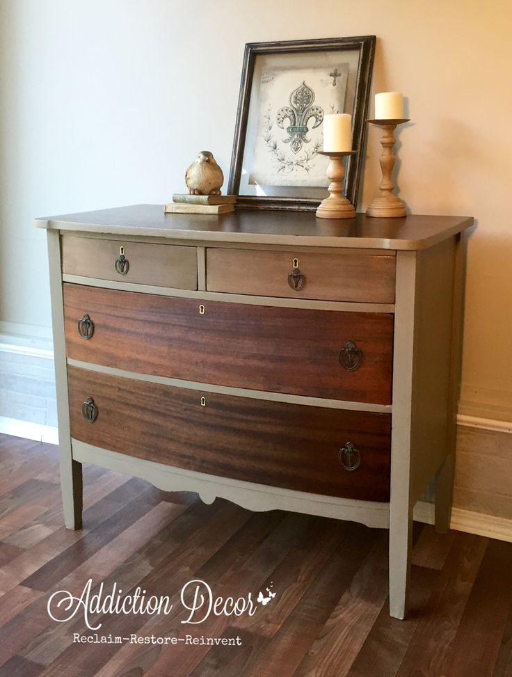 Ombre stained dresser by Addiction Decor
